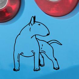 al por mayor perro pegatinas de parachoques Rebajas Venta al por mayor de Bull Terrier Dog Jdm calcomanías de vinilo pegatinas de coches pegatinas de vidrio arañazos pegatinas parachoques accesorios