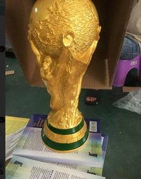 Wholesale cups photos - Real photo! Titan Cup Artware Resin Model 36cm Russia World cup football trophy Fans Souvenir gift DHL Fast delivered
