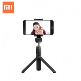 2019 trípode extensible Original Xiaomi MI Selfie Stick Tripod Holder Bluetooth 3.0 Obturador extensible inalámbrico para iPhone Xiaomi y otros teléfonos inteligentes rebajas trípode extensible