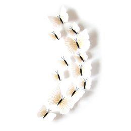 3d pvc geschwollene aufkleber Rabatt Plain White Wandaufkleber Simulation Schmetterling Pvc Material Originalität Wandbilder Kinderzimmer Badezimmer Dekor 3d Aufkleber 2 4ha gg
