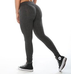 Wholesale Sexy Womens Leggings - Womens Sport Pants Sexy Push Up Gym Sport Leggings Women Running Tights Skinny Joggers Pants Compression Gym Pants
