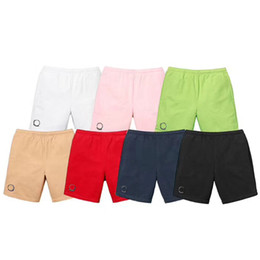 Wholesale Women Fashion Elastic Waist Shorts - 18SS Luxury Brand Designer Beach Shorts Men Women Casual Loose Fashion Street Pants Sport Fitness Pants Sweatpants Solid Pants HFYMKZ026