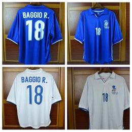 Blue home 1998 World cup Retro jersey 98 WC italy BAGGIO Maldini Vieri  Inzaghi PIRLO football shirt 0ae311fb2