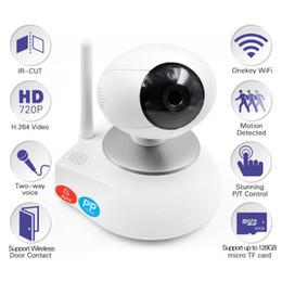 Wholesale Intercom Electronic - HD 720P Video Baby Monitor Wireless WiFi IR Video Talk Intercom Camera With Night Vision Pan Tilt Baba Electronic