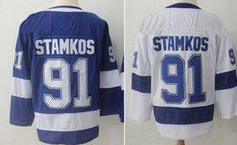 Wholesale Full Red - Stamkos 91 Hockey Jerseys, 86 Kucherov,40 Zetterberg,71 Larkin 8 Ovechkin,87 Crosby,34 Matthews,16 Marner Sports Fan Ice Hockey Jersey