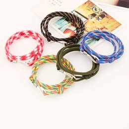 wholesale japanese gifts NZ - 2018 Fashion Mens and Womens Handmade Anchor Bracelet Colorful Woven Bracelet promotional gifts custom size  style