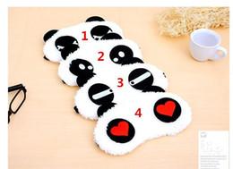 Wholesale Panda Sleeping - Free Shipping Cotton Panda Goggles Sleep Mask Shading Moisture Remove Dark Circles Cartoon Eye goggles Improve Sleep Quality 500pcs