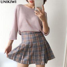 Wholesale Baseball Uniform Wholesale - 3 Colors.Preppy Style Women's High Waist Plaid Pleated Skirts.Suit Half-length Sailor Baseball Skirt.Girl Student Uniform Skirts