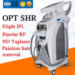 Wholesale Laser Hair Removal Equipment - New 5 in 1 Multifunction OPT SHR hair removal cream permanent equipment machines for women Laser tattooing & Freckle RF skin rejuvenation