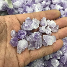 Wholesale Wholesale Fish Tank Decorations - Amethyst Gravel Stones Crystal Quartz Detritus Purple Healing Polished Rough Rubble Fish Tank Stone For Home Decoration Energy Macadam Craft