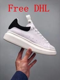 Semelles de filles noires en Ligne-Free DHL Avec boîte Chaussures à semelle à lacets Designer Comfort Pretty Girl Pretty Blanc Noir Femmes Hommes extrêmement stable en cuir Chaussures de loisirs