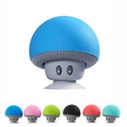 2019 mini fungo wireless Altoparlante Bluetooth Mini Mushroom Altoparlante wireless portatile Altoparlanti stereo per basso pesante per tutti i telefoni intelligenti mini fungo wireless economici