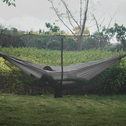 adult high beds 2018 - Universal Lightweight Hammocks High Strength Mosquito Net Parachute Hammock Hanging Bed for Outdoor Camping Hunting