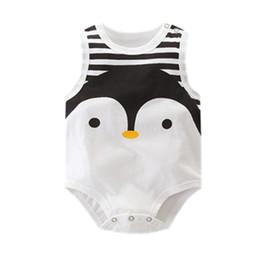 4bedfffa26ddb Orangemom été 2018 sans manches bébé Body mignon Penguin style une pièce  combinaison pas cher bébé garçon vêtements enfants vêtements vêtements de  pingouin ...