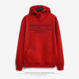 Wholesale Oversized Cardigans - 2018 Trendy Faces Stranger Things Hooded Mens Hoodies and Sweatshirts Oversized for Autumn with Hip Hop Winter Hoodies Men Brand