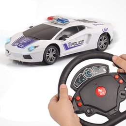 Wholesale Toy Police Cars Models - 1:24 Simulation Model Police Car Remote Control Car Toy Accelerometer Remote Control Car Gift Boxes