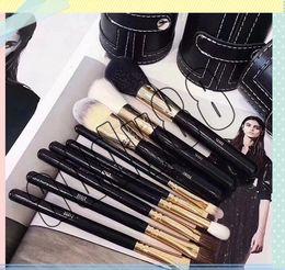 set de pinceles de maquiagem blue sky cosméticos Desconto Nova Marca M Pincéis de Maquiagem Set 9 Pcs Maquiagem Profissional Jogo de Escova de Alta Qualidade Taxa de Envio