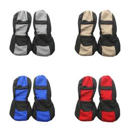 copri sedile auto blu Sconti 4 pezzi universale quattro stagioni coprisedili auto sedile auto accessori per lo styling rosso blu beige e grigio colore traspirante facile da pulire