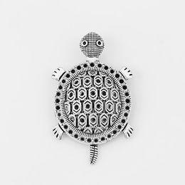 5 unids Antiqeu Plata Tortuga / Tortuga Encantos Amuleto Colgante Para la Pulsera Collar de Fabricación de Joyas Accesorios de Accesorios 52 * 32mm desde fabricantes
