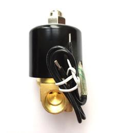 "Válvula solenóide elétrica on-line-DC12V / 24V-AC220V 1/2 ""BSP Latão Normalmente Fechado Válvula Solenóide Elétrica Frete Grátis"