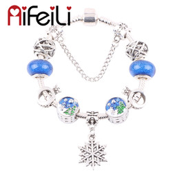 европейские елки Скидка Exquisite Christmas Tree Beads Snowflake Pendant Series DIY Suitable for Women Bracelet Jewelry Glamour European Trend Fashion