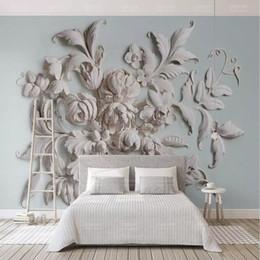 ... Tapetenmuster Rabatt 3d Dreidimensionale Europäische Minimalistische  Geprägte Mustertapete Wandbild Wohnzimmer TV Hintergrund Wand Papier  Schlafzimmer