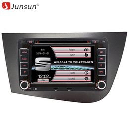 "audio video navigation 2018 - Junsun 2 din 7"" Car DVD radio Multimedia player For Seat Leon 2 2006-2011 RDS FM GPS Navigation car audio stereo Autoradio"