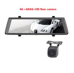 "Wholesale ips sensor - E05 10"" IPS 4G car dvr Android mirror with rear view camera ADAS Bluetooth WIFI 1080p camara automovil mirror navigator"