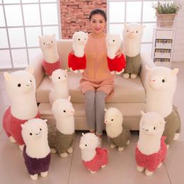 2019 новая японская кукла Новый Радуга альпака плюшевые игрушки куклы милый Лама Alpacasso плюшевые игрушки японского мягкие игрушки кукла дети подарок OTH893 дешево новая японская кукла