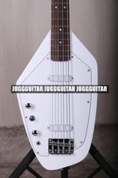 Белые гитарные струны онлайн-Редкие 4 строки 60s Vox Phantom IV Белый электрическая бас-гитара твердого тела клен шеи Палисандр гриф, Белый накладку, хром оборудование