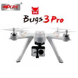 Control remoto mjx online-MJX Bugs 3 Pro B3PRO RC Drone Dron 4 canales de control remoto Quadcopter helicóptero WiFi FPV APP Control de abejones multifuncionales