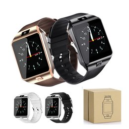 Wholesale healthy watches - DZ09 Smart Watch with Camera Healthy Tracker Intelligent Watch Support TF Sim Card Bluetooth Wristwatch for Smart Phone with Retail Box