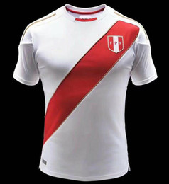 Wholesale Thailand Soccer Jerseys Free Shipping - 2018 Peru Wolrd Cup Home White Red 2019 Thailand Quality Soccer Jerseys 18 19 Peru Away camiseta de futbol Fast Free Shipping