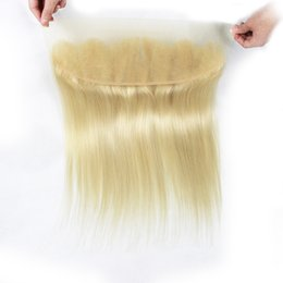Wholesale Brazilian 613 Closure - lace frontal closure 4x13 ear to ear lace frontal Color 613 Blonde Extensions free middle part Brazilian human hair
