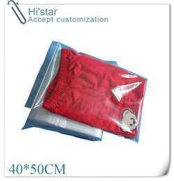 Wholesale Self Sealing Pe Bags - 40*50cm 50pcs lot bag yes printing available PE self adhesive seal recyclable apparel OPP shop plastic for shopping