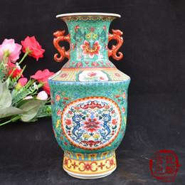 Wholesale Traditional Chinese Ceramics Porcelain - Jingdezhen porcelain collection antique porcelain ceramic enamel color Wufu Rimen vases Decoration