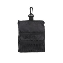 Wholesale golf bags free shipping - Golf Tee Bag Holder Golf Tee handbag Oxford Pouch Portable Accessories free shipping