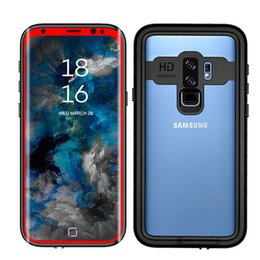 Wholesale Dove Bands - Waterproof Case For Samsung S9 S9 plus Snowproof Shockproof Cover Arm Band Outdoor Underwater Diving Phone Case