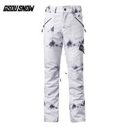 gsou снежные брюки Скидка GSOU SNOW Brand Ski Pants Women Skiing Snowboarding Pants Female High Quality Winter Outdoor Sport Waterproof Warm Snow Trousers