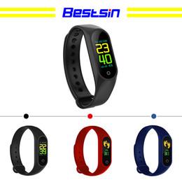 recordatorio de pulsera Rebajas Bestsin M3 Color Screen Smart Bracelet rastreador de fitness Frecuencia cardíaca Presión arterial Oxígeno Recordatorio de llamada Deportes Resistente al agua Banda inteligente para iOS A