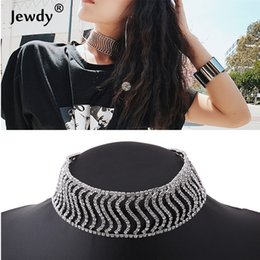 Wholesale Chunky Chain Collar - whole saleNew Rhinestone Choker Crystal Pendant Necklace Fashion Jewelry 2018 Collar Choker Chunky Statement Necklaces For Women Gift Mar
