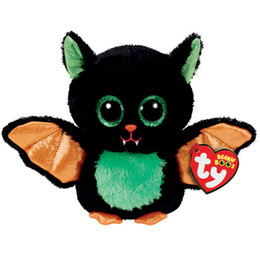 "Wholesale Plush Bats - Ty Beanie Boos 6"" 15cm Beastie the Halloween Bat Plush Regular Stuffed Animal Collectible Soft Doll Toy"