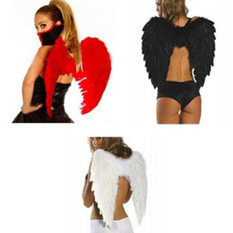abbigliamento eseguendo fase Sconti New Feather Angel Wing Stage Perform Photography Accessori Accessori Halloween Adult Ball Prop Forniture di nozze Decorazioni per feste Angel Wings