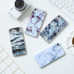 Wholesale Paint For Stone - Soft TPU phone Case For iphone X 8 7 6 plus Granite Scrub Marble Stone image Painted All-inclusive Phone Cases cover 12 colors