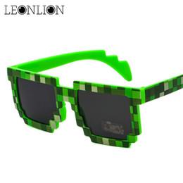 Wholesale Halloween Party Sunglasses - LeonLion 2017 Halloween Mosaic Funny 5 Colors Sunglasses Women Men Brand Design Vintage Sun Glasses Party Outdoor Glasses