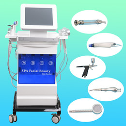 Wholesale Ultrasonic Peeling Machine - portable 5 in 1 Hydro microdermabrasion ultrasonic skin care rejuvenation equipmnent hydrafacial water peeling machine CEM Available