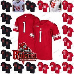 0d34671aa Custom Rutgers Scarlet Knights College Football Jersey Any Name Number  3  Jalen Chatman 11 Logan Ryan 27 Ray Rice 95 Justin Davidovicz S-4XL