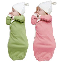 Wholesale Baby Boy Gowns - Comfortable Baby Sleeping Bag Sleep Gowns Robes Long Sleeve With Cap Boys Wrap Newborn Warm Cute Sleeping Bag
