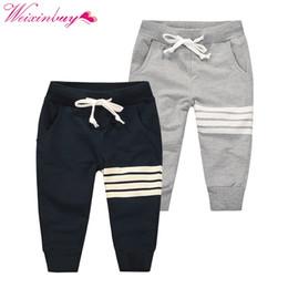 2019 12 meses ropa de marcas para niños 2018 nuevo niño coreano de ocio de moda pantalones de algodón niños deportes al aire libre pantalones al aire libre con cordón pantalones casuales 1-10Y