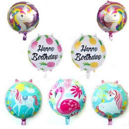Canada Licorne Feuille Ballon Enfant Jouets Ballons Enfant Fête D'anniversaire Ballon Flamigo Ballons Imprimé De Mariage Décoratif Faveurs Fournitures 18 pouces LDH22 Offre